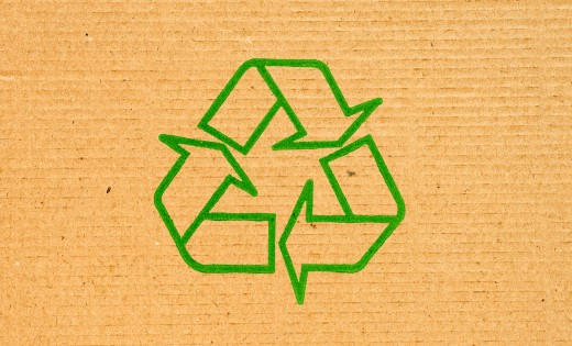 go green sign for sustainable packaging